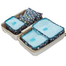 6 Pcs/ensemble de Haute qualité Oxford tissu voyage mesh sac dans le sac bagages organisateur emballage cube organisateur pour vêtements