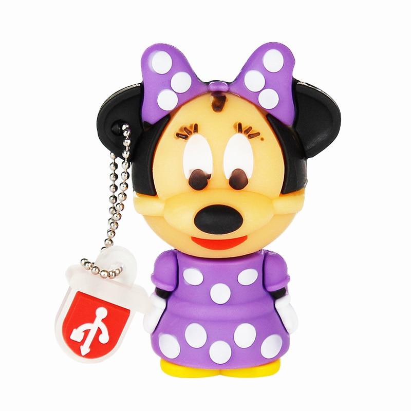 Image 2 - Usb Flash Drive 4GB Mickey&Minnie Pen Drive 8GB 16GB High Quality Flash Disk 32GB 64GB Pendrive 128GB Cute Cartoon Usb Stick 2.0-in USB Flash Drives from Computer & Office