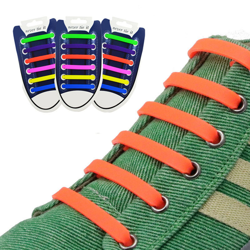 купить 12Pcs/Set Unisex Silicone Elastic Shoelaces For Shoes Special Shoelace No Tie Shoe Laces All Sneakers Fit Strap Free Shipping