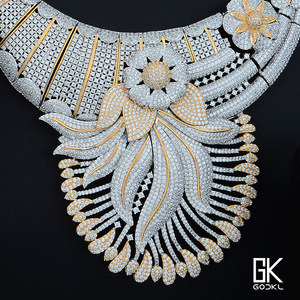 Image 3 - Godki 高級タッセルフラワーキュービックジルコン cz ナイジェリアジュエリー女性の結婚式インドビーズジュエリーセット 2018