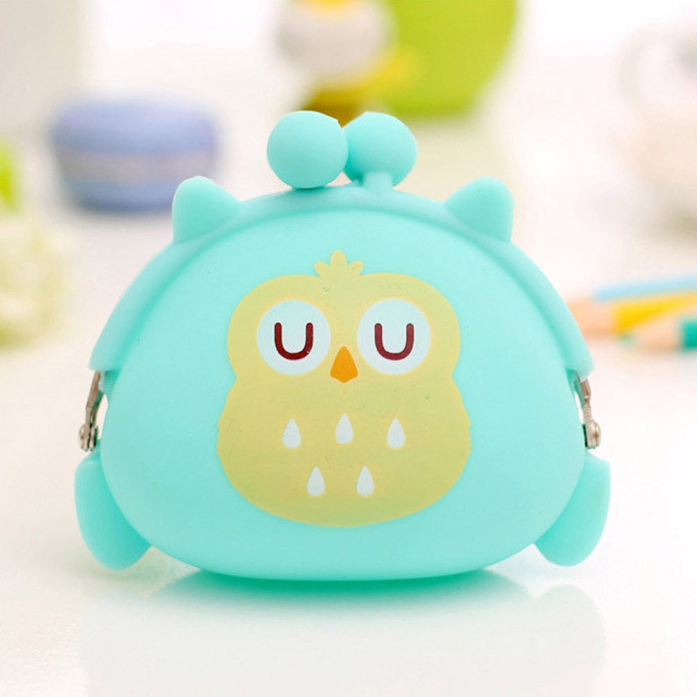 2017 New Fashion Cartoon Women Coin Purse Ladies Wallet Owl Silicone Jelly Wallets Change Bag Key Pouch Coin Purses thinkthendo 3 color retro women lady purse zipper small wallet coin key holder case pouch bag new design