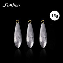 Fulljion 2pcs/lot Lead Sinker Solid Oval Split Shot Olive In Lines lures Fishing Sinkers Fishing Tackle Accessories