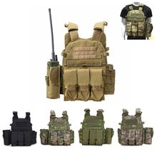 600D Oxford Tactical Vest Painball Airsoft Combat Shooting Hunting Vest Military Army Combat Molle Camouflage Body Armor Vest
