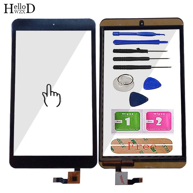 8 Touch Digitizer For Alcatel One Touch POP 8 P320X P320 Touch Screen Touch Panel Lens Sensor TouchScreen Tools 3m Glue Wipes
