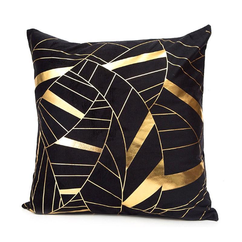 Bronzing Подушки декоративные нашивки геометрический Чехлы для подушек наволочки декоративные Подушки S для дивана сиденье coussin cojines S2