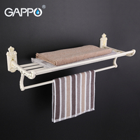 GAPPO 1Set Top Quality Wall Mounted 60cm Towel Bar In Six Racks Towel Holder Hook Restroom