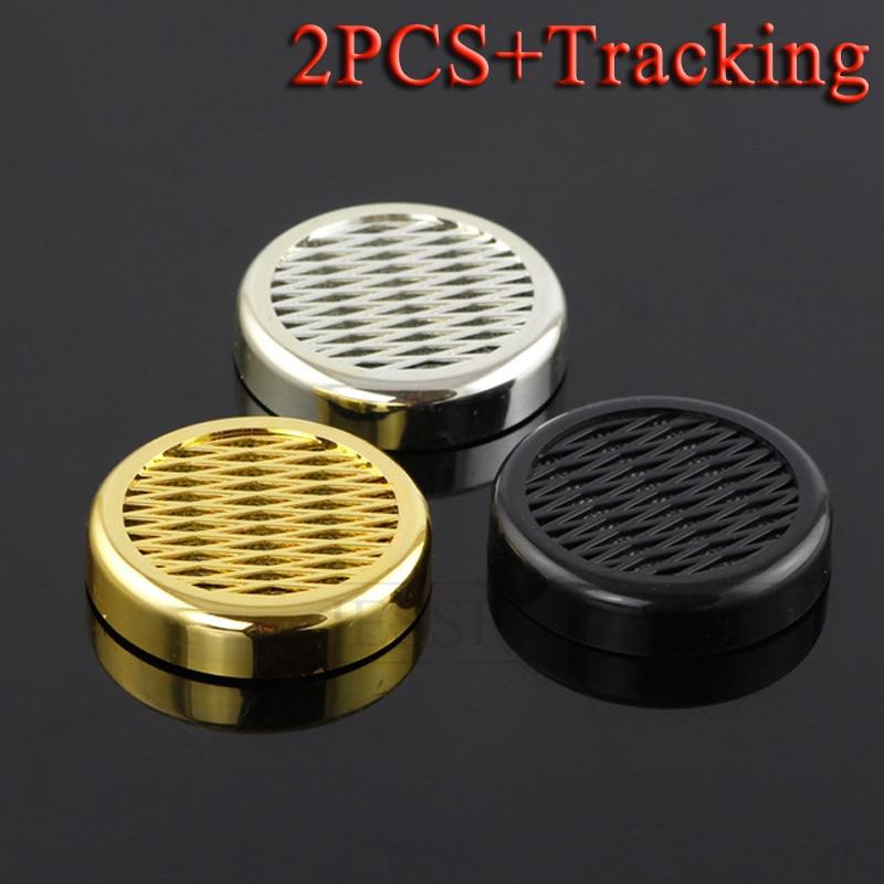 2 PCS GALINER Humidor Gadgets Round Plastic Cigarette Cigar Humidifier Golden Silver Black Color Available
