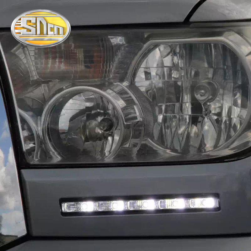 SNCN LED Daytime Running Light For Toyota Tundra 2010 - 2013 2014 Car Accessories Waterproof ABS 12V DRL Fog Lamp Decoration sncn led daytime running lights for toyota prado 150 fj150 lc150 2010 2013 drl fog lamp cover with dimming function