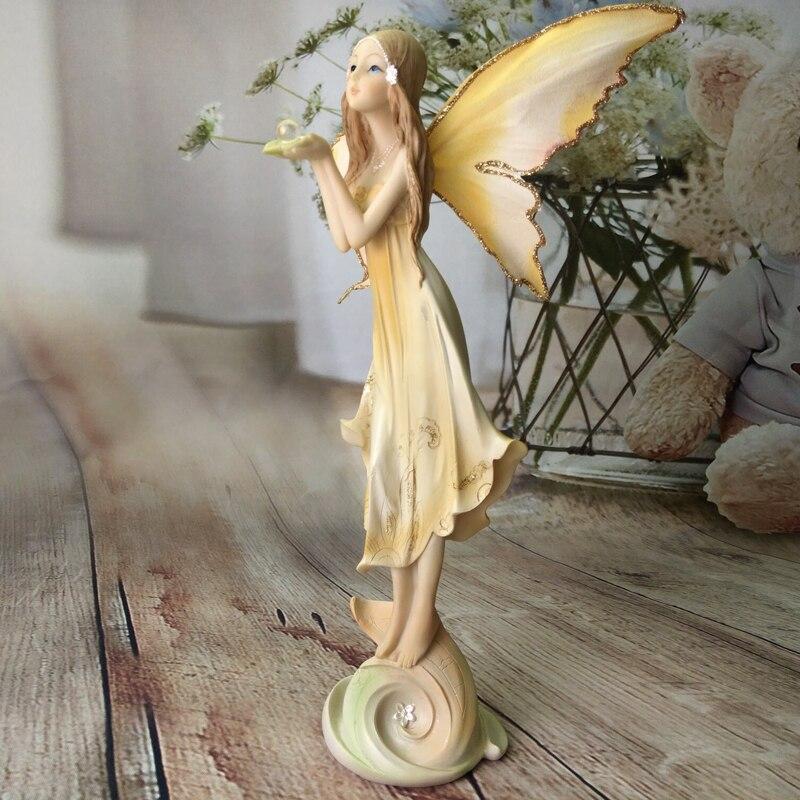 Garden Fairy Sculpture Resin Angel Figurines Flower Fairy StatuesHouse Ornaments Beautiful Girl Wedding Gifts Christmas Decor