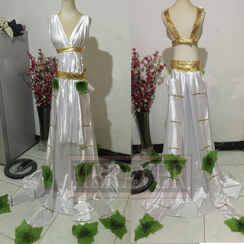 LOL Sona Buvelle Cosplay Maven des cordes robe blanche costume cosplay