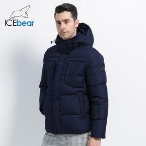 Image 3 - 2019 novo inverno jaqueta masculina de alta qualidade casaco homem com capuz roupas masculinas casuais roupas algodão marca vestuário mwd19601d