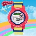 Xinjia nueva moda jalea reloj digital para niños, niña, niño unisex súper 50 m choque resistencia a prueba de agua al aire libre deporte de natación
