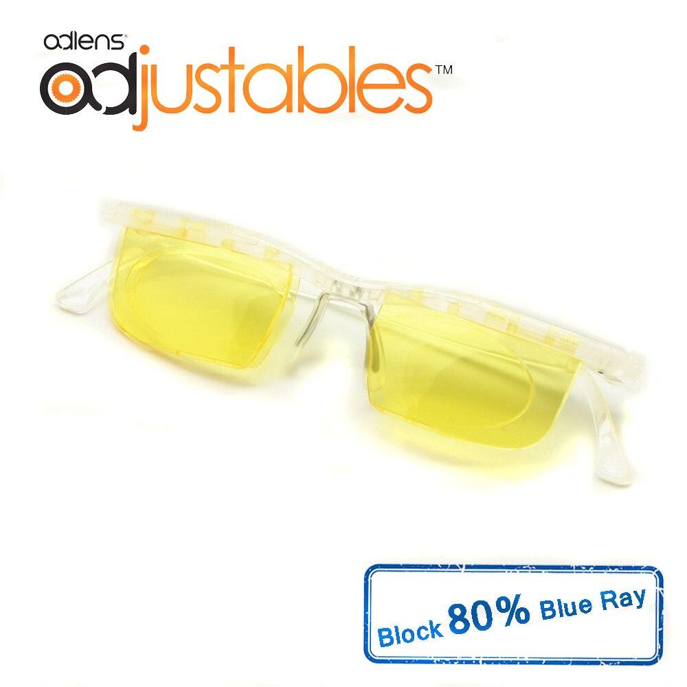 53e112b70b7e1 Adlens Interface de Computador Óculos Óculos Anti Blue Ray de Foco Ajustável-6D  para +