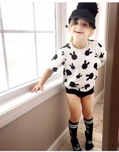 2016 beau le encanta conejo niños verano ropa de bebé niña camiseta sin mangas ropa para niños bebe reine des neiges enfant vetement garcon