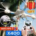 Бесплатная Доставка MJX X400 Обновления X400-V2 RC Quadcopter 6-осевой Дроны 2.4 Г вертолеты Могут Добавить C4005 WIFI FPV HD Камера VS H8D X600