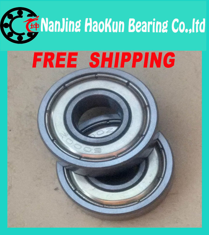 Free Shipping 4pcs high quality Deep groove ball bearings 6000 2rs 6000zz 2z bearing