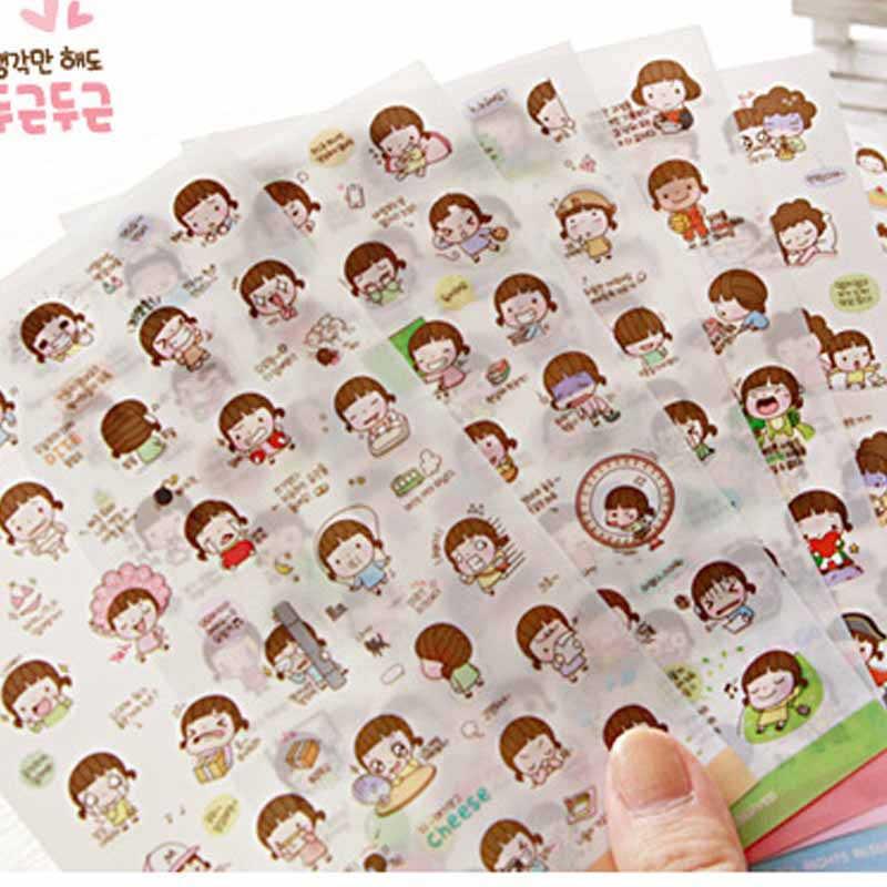 G211 Koreanische briefpapier nette kreative karikatur Südkorea Momoi mädchen aufkleber keks mädchen aufkleber büromaterial für studenten