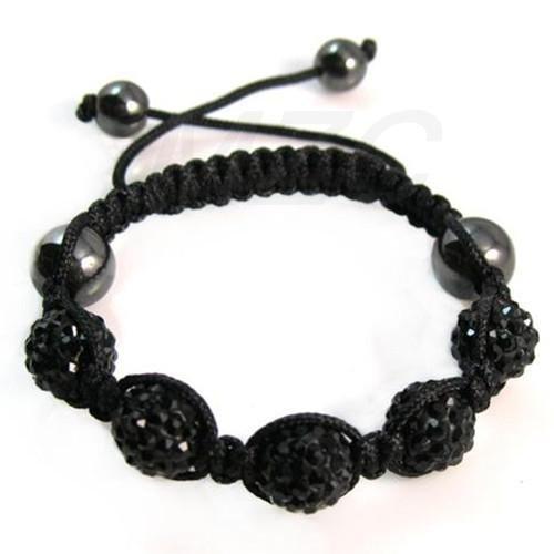 Bracelet Shamballa Swarovski Noir