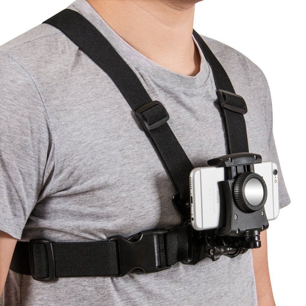 Chest Harness Strap Mount for Sony action cam gopro sport camera and smartphone perfect for paragliding skydiving bungee jumping