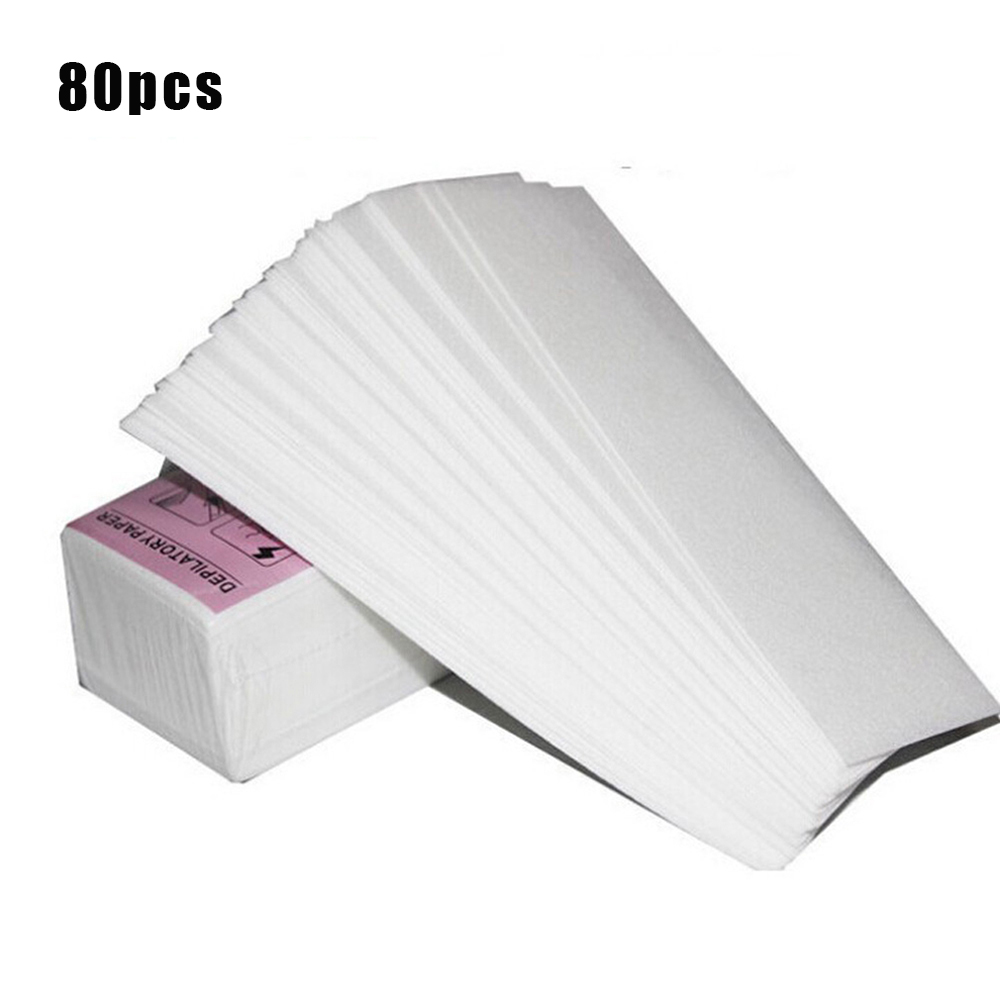 80pcs/lot Wax Strips High Quality Hair Removal Wax Paper For Hair Removal Depilatory  Epilator Wax Strip Paper Roll Waxing Healt