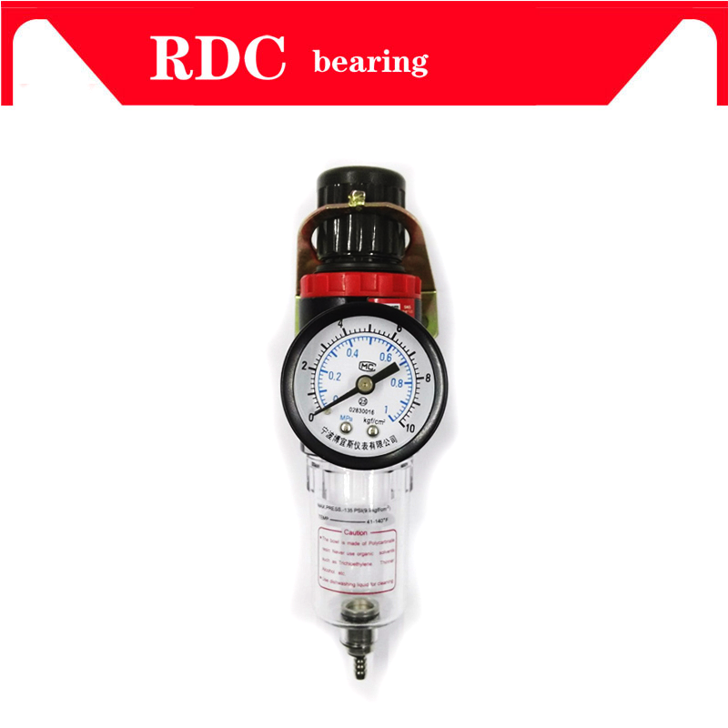 NEW AFR-2000 Pneumatic Filter Air Treatment Unit Pressure Regulator Compressor Reducing Valve Oil Water Separation AFR2000 Gauge 1pc air compressor pressure regulator valve air control pressure gauge relief regulator 75x40x40mm