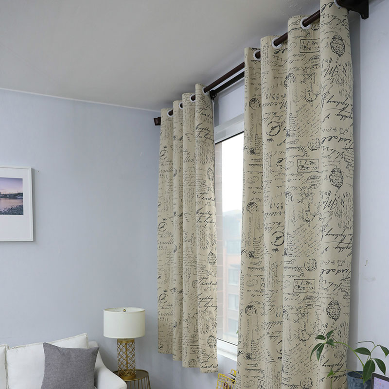 Image 3 - European Modern Print Blackout Curtain Solid Shading for Bedroom Livingroom Kitchen Window Treatment Blind Drape Home Decoration-in Curtains from Home & Garden