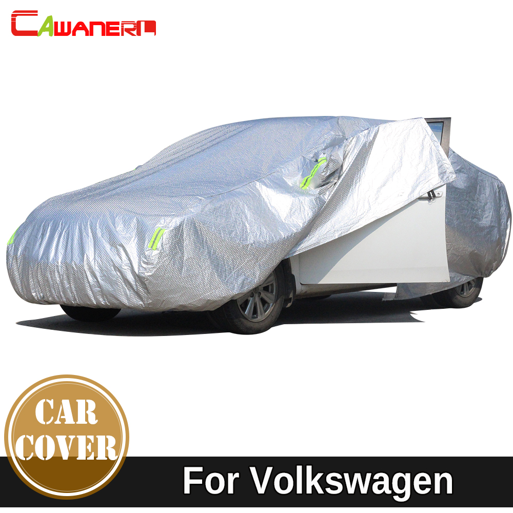 Cawanerl Thicken Cotton Car Cover Outdoor Sun Snow Hail Rain Dust Protection Waterproof Auto Cover For Volkswagen VW EOS Golf buildreamen2 waterproof car covers sun snow rain hail scratch dust protection cover for mercedes benz gle 350 400 450 300 320