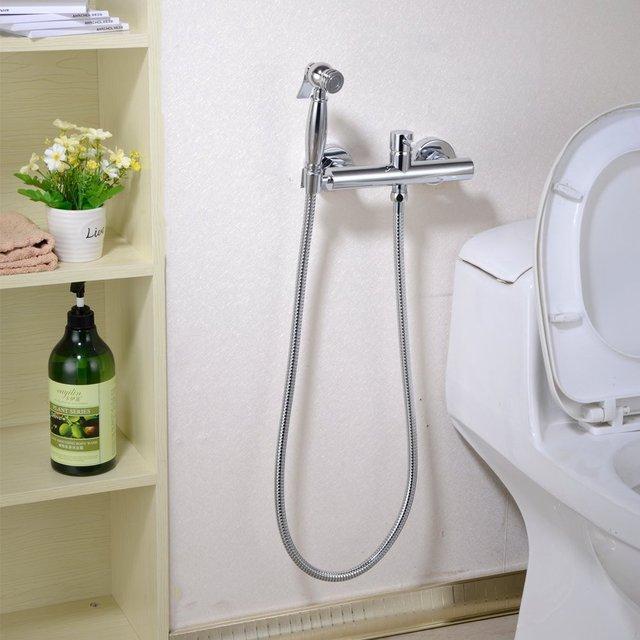 Toilet Mixer Bidet Sprayer Faucet Mixing Valve With Hose
