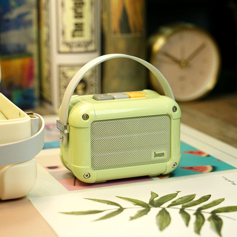 Excellent Divoom Macchiato Bluetooth Wireless Speaker Matcha Green Metal Radio outdoor portable hand-held music player SubwooferExcellent Divoom Macchiato Bluetooth Wireless Speaker Matcha Green Metal Radio outdoor portable hand-held music player Subwoofer