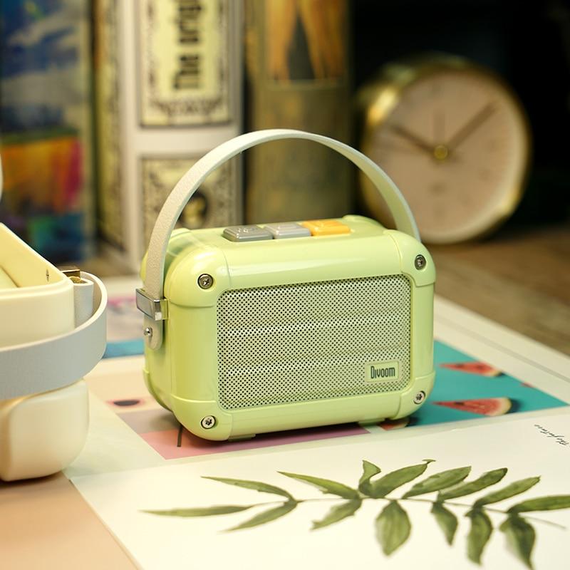 Excellent Divoom Macchiato Bluetooth haut-parleur sans fil Matcha vert métal Radio extérieur portable lecteur de musique à main Subwoofer