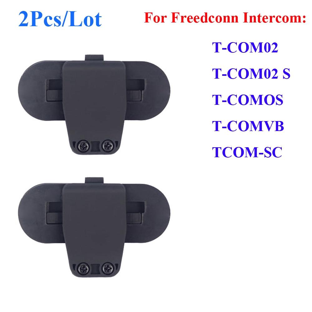 2 Pcs/Lot Freedconn Clip Parts For T-COMVB TCOM-SC Motorcycle Bluetooth Waterproof Helmet Interphone Clip Buckcle Accessories