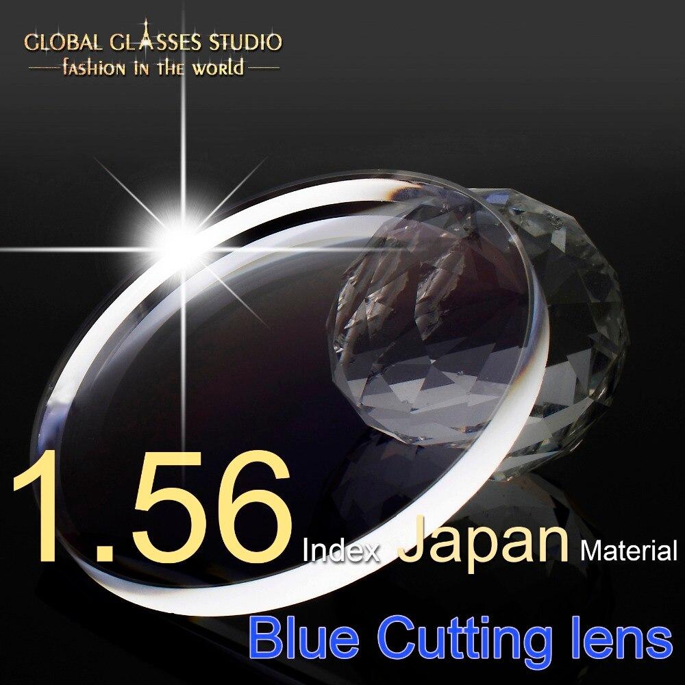 1 56 Index Resin Aspherical Lens Myopia Scratch resistant SHMC Japan Water proof Material Ant Blue