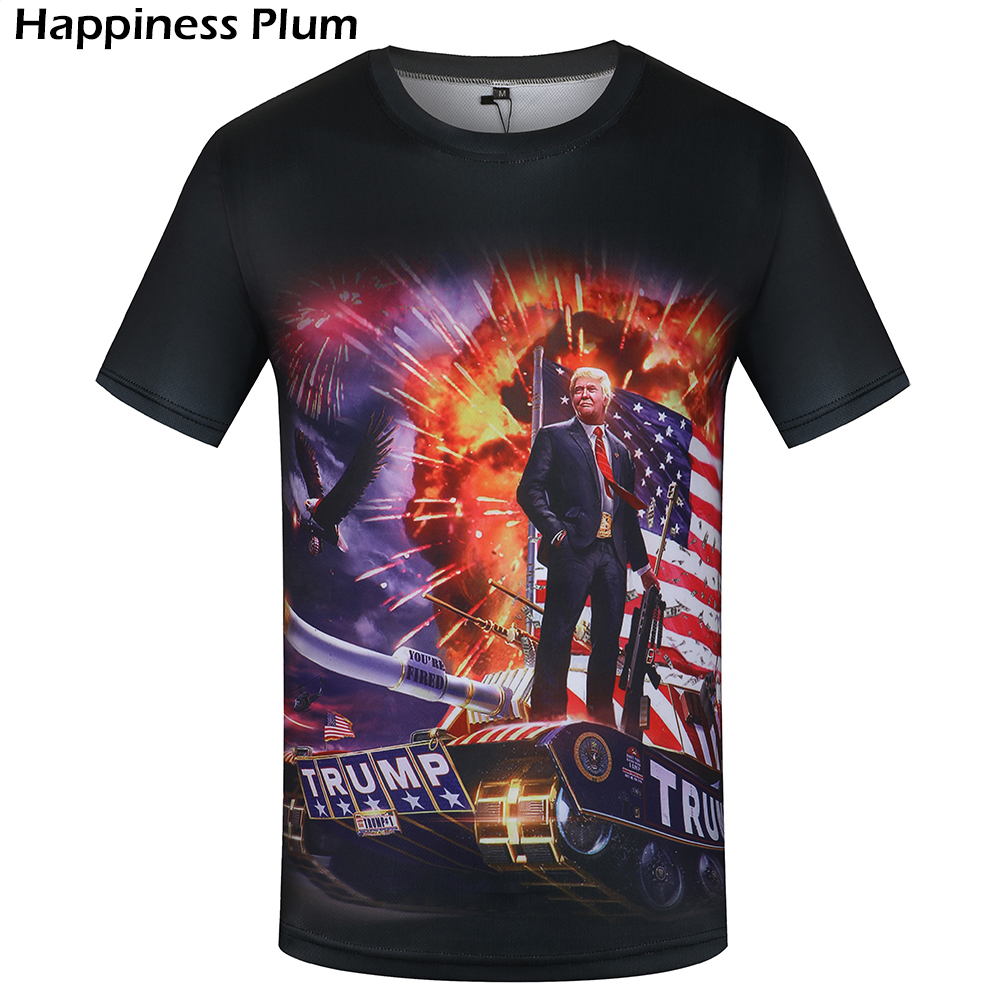 KYKU Donald Trump T Shirt Lelaki / wanita Militer Tshirt Hip Hop Tee Black War 3d T-shirt USA Mens Clothing 2018 Top New Hipster