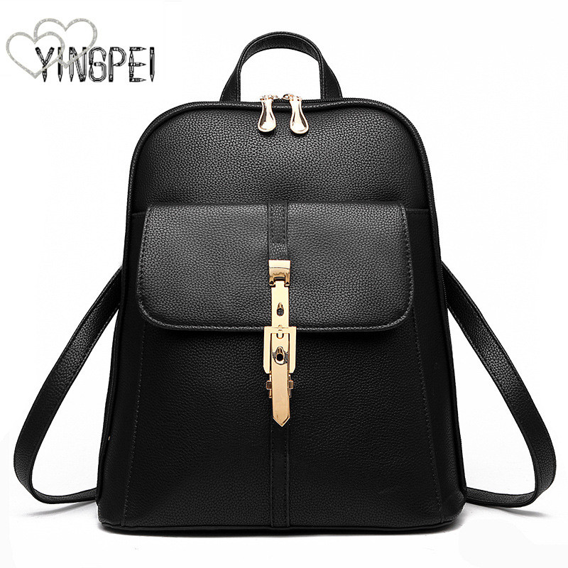 Women Backpack High Quality Pu Women Bag Leather School Bags For Teenagers Girls Fashion Korean Style Large Capacity Luxury