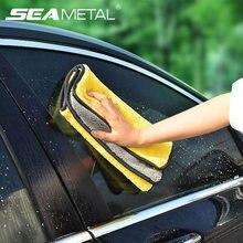 Microfibre serviette soins de voiture polissage serviettes de lavage Auto lavage séchage chiffon microfibre épaisse peluche serviette accessoires de lavage de voiture