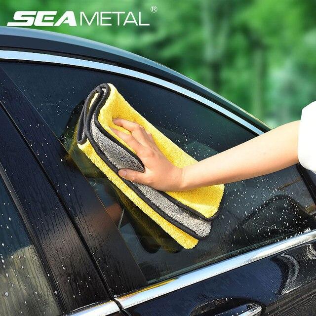 Ręcznik z mikrofibry pielęgnacja samochodu polerowanie ręczniki do prania Auto mycie suszenie tkaniny mikrofibra gruby pluszowy ręcznik akcesoria do myjni samochodowych
