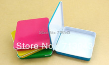 Free shippng/100x95x17mm small tin box with hinge/cigarette tin box/name card case/metal case with 5 colors