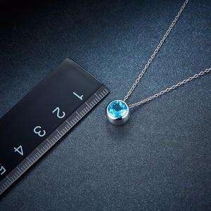 Image 5 - Hutang 1.65ct כחול טופז נשים של תליון, מוצק 925 כסף סטרלינג שרשרת טבעי חן אלגנטי תכשיטי עבור מתנה חדש