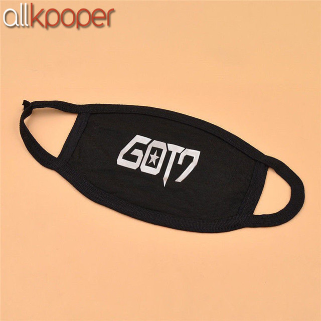 1PCs ALLKPOPER KPOP GOT7 Black Mouth Face Mask Muffle Respirator Cotton Unisex Jackson Mark Winter warm Facial Masks K-pop 5