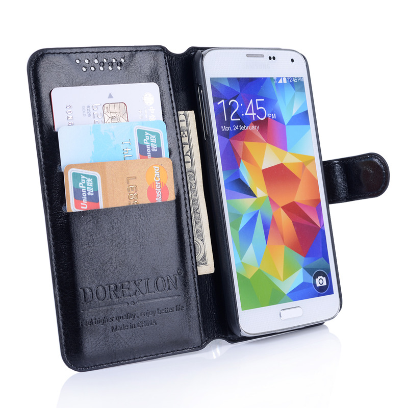 Wallet Leather Case For BQ BQ-5044 Strike LTE Luxury Retro Flip Coque Phone Bag Cover for BQ 5044 BQ5044 Case Funda Card Holders(China)