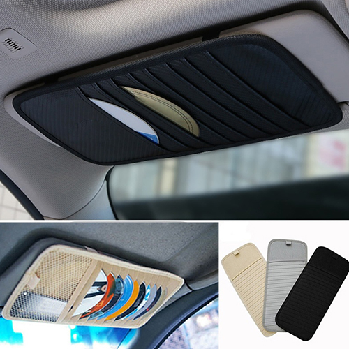 New Hot 1Pc Car Auto Sun Visor Glasses Clip CD DVD Card Case Holder Storage Clipper Disks Hold Organizer Bag Clip