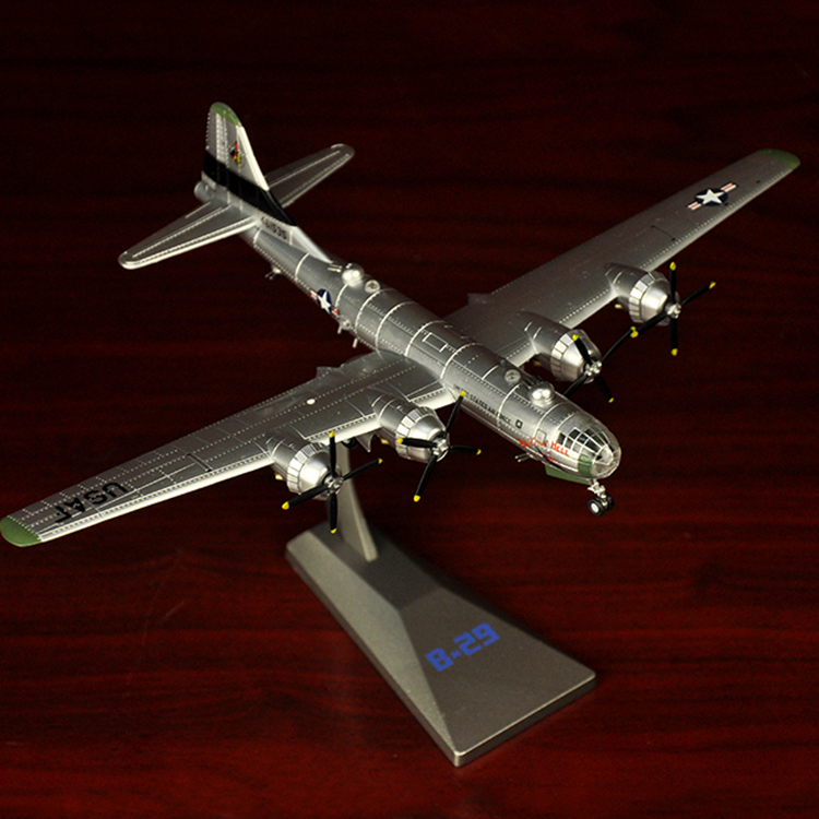 1:144 World War II Aircraft Model Alloy B-29 Bombers of The B29 Simulation Model of Static Military Decoration Model1:144 World War II Aircraft Model Alloy B-29 Bombers of The B29 Simulation Model of Static Military Decoration Model