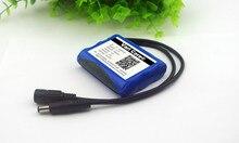 Batería de iones de litio de 12V y 2600mAh, cámara CCTV de 12,6 V a 11,1 V, negra, doble de 5,5mm, novedad