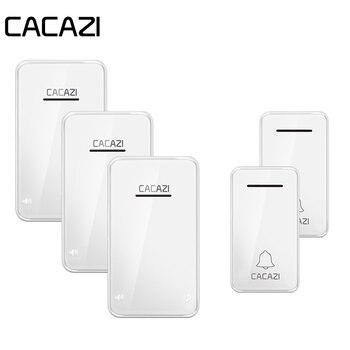 CACAZI impermeable inicio timbre inalámbrico nuevo Auto LED de luz 200 m remoto inteligente sin batería llamada campana 6 volumen 48 carillón