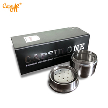 Capsulone/Compatible with illy coffee Machine maker/STAINLESS STEEL Metal Refillable Reusable capsule fit for cafe