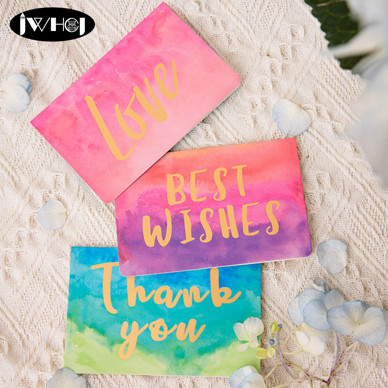 10 Pcs Bronzing Greeting//Thank you//Blessing Card Party Supplies Cards//Envelopes
