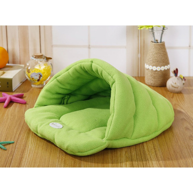 Hot! Pet Cat Bed Small Dog Puppy Kennel Sofa Polar Fleece Material Bed Pet Mat Cat House Cat Sleeping Bag Warm Nest High Quality 3