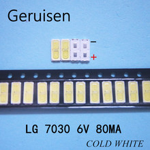 1000 Uds mantenimiento de LG LED LCD TV lámpara de luz de fondo con diodo emisor de luz 6V tubo 7030 abalorios SMD LEWWS73V15CZ00