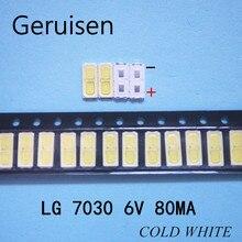 1000 adet bakım LG LED LCD TV arkaplan ışığı lamba ışık yayan diyot 6V tüp 7030 SMD boncuk LEWWS73V15CZ00