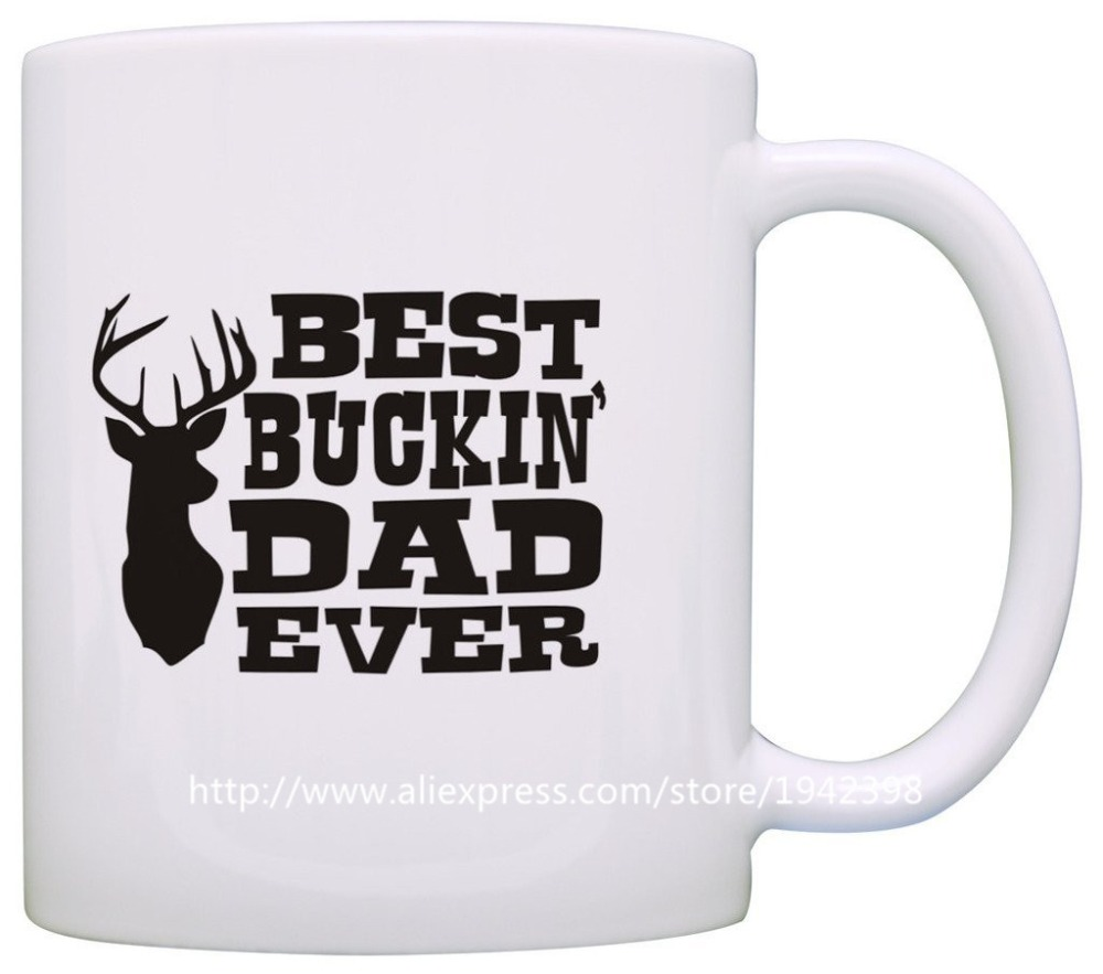 Fathers Day Gift Best Buckin Dad Ever Deer Hunting coffee mugs heat sensitive Tea art beer cup